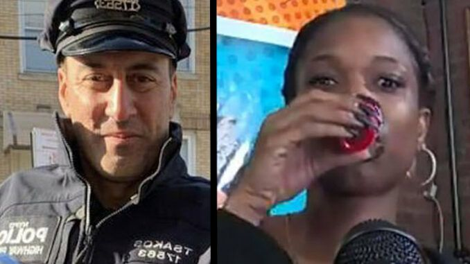 Black Lives Matter activist said 'fuck the police' during podcast and down tequila shot before murdering cop in a hit and run