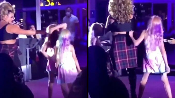 Children filmed doing stripped dance moves with drag queens in Los Angeles