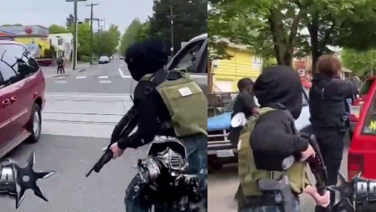 BLM Terrorists Draw AR-15s and AK-47s on Portland Residents – No Police on Scene