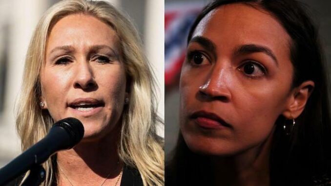 Marjorie Taylor Greene tells AOC to take off her face diaper and talk to real Americans