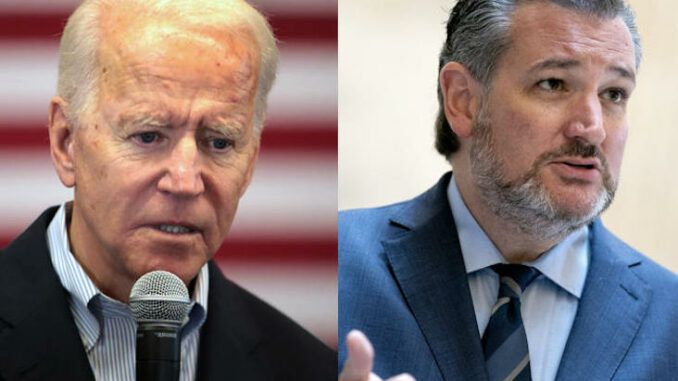 Ted Cruz accuses Joe Biden of crawling in bed with Russia and other enemies of America