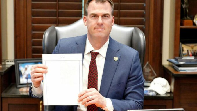 Oklahoma Gov. Kevin Stitt signs bill banning schools from teaching critical race theory