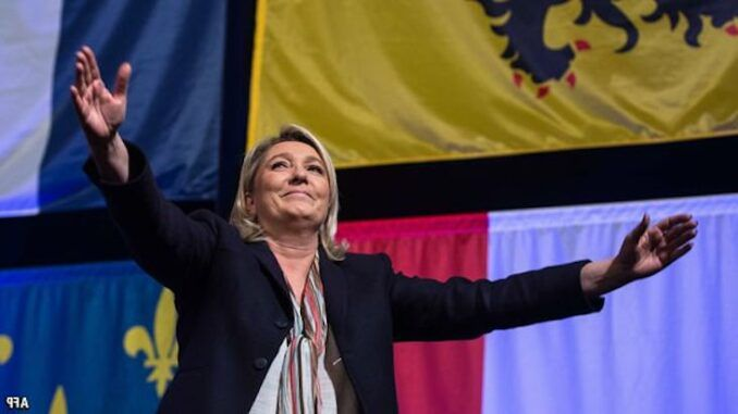 Over 60 per cent of police and military say they will vote for Marine Le Pen in next year's French presidential election.