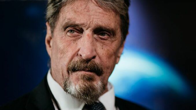 John McAfee warned the CIA wanted him dead shortly before his mysterious death