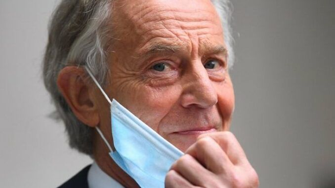 Tony Blair says unvaccinated should be prisoners at home