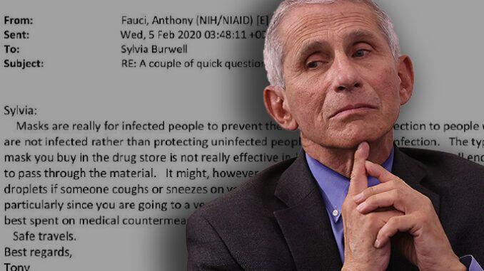 Correction: An earlier version of this article incorrectly stated that Dr Fauci knew that hydroxychloroquine was effective against COVID-19, and he lied about these things to the public.