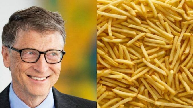 McDonald's french fries are grown on Bill Gates' farmland