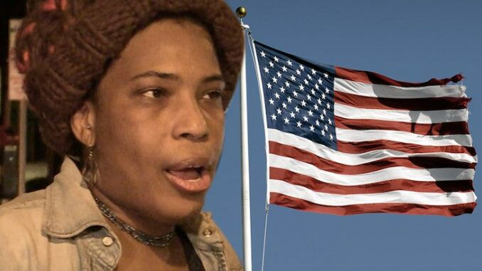 Macy Gray trashes the US. flag again saying its hateful and divisive