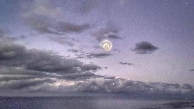 Mysterious spirals appear in the skies above the Pacific