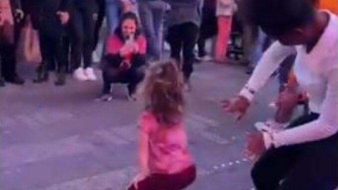 Viral video shows toddler twerking openly in New York City as pedophiles cheer and applaud
