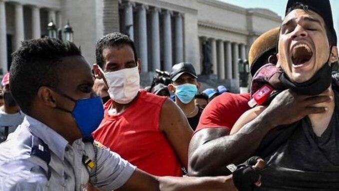 Black Lives Matter appears to support the police brutality happening in Cuba