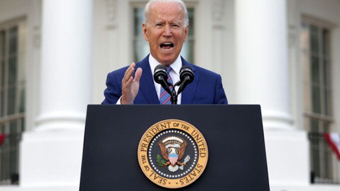 President Biden says most patriotic thing you can do is get a COVID shot