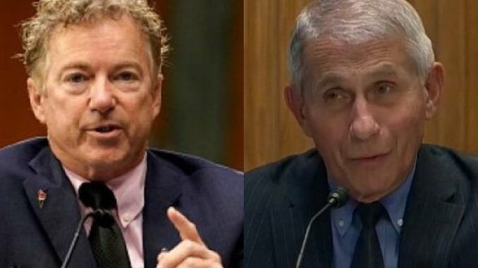 Fauci trembles with fear as Rand Paul vows criminal prosecution against him for various crimes
