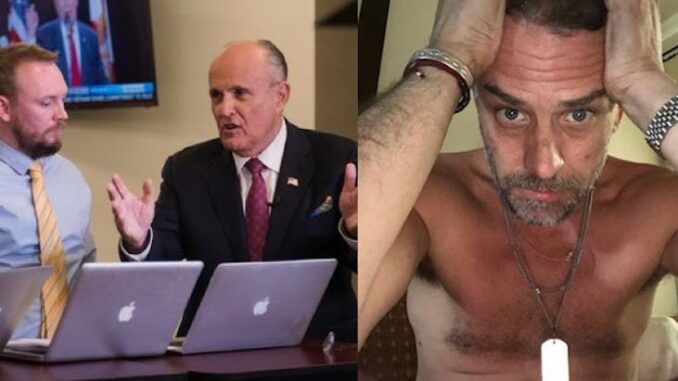 Former Trump attorney Rudy Giuliani claims the FBI were offered hard drives belonging to Hunter Biden but they wanted nothing to do with it.