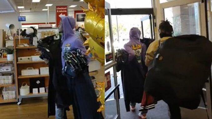 Victims of systemic oppression caught looting TJ Maxx store in Los Angeles