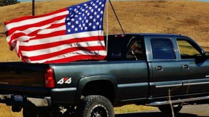 New York Times says people who fly American flags from their pick-up trucks are likely Trump supporters