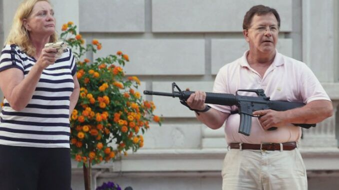 Missouri Gov pardons McCloskey's on weapons charges