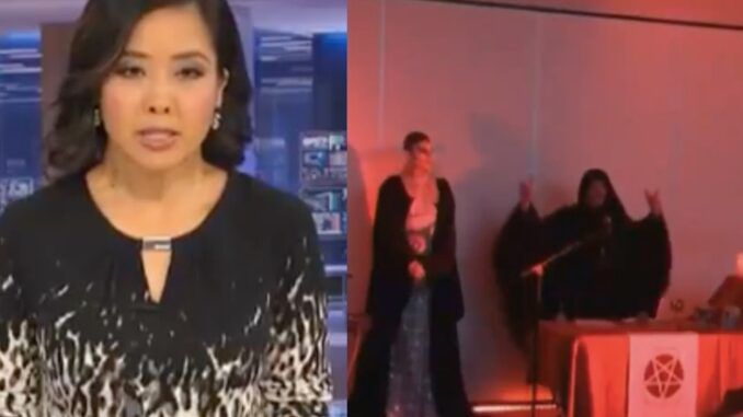 ABC News accidentally shows clip of elite officials performing a satanic ritual