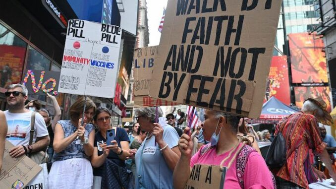 Thousands of citizens in New York City rise up against the New World Order