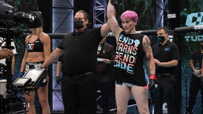 Biological male MMA fighter wins against woman in competition
