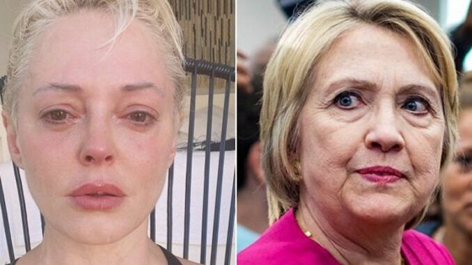 Rose McGowan survives murder attempt shortly after exposing the Clintons