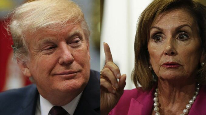 Nancy Pelosi says if what's his name runs again in 2024 he will lose the election again