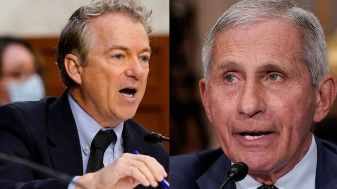 Senator Rand Paul calls for Dr. Fauci to go to jail for lying to Congress