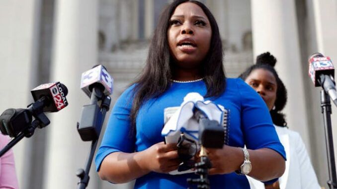 Democratic State Sen. Katrina Robinson face 20 year prison sentence after being found guilty on multiple fraud counts