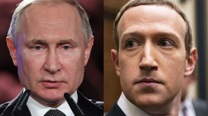 President Putin vows to save the Internet from Facebook's icy grip