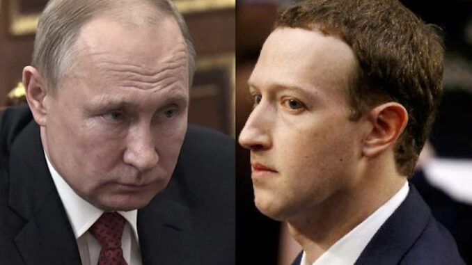 President Putin vows harsh sanctions against Facebook if they don't remove child pornography from their platform