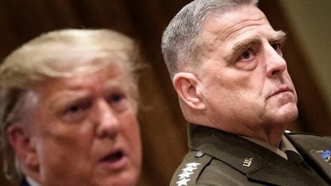 General Mark Milley admits to Deep State plot to inform China is America was about to attack